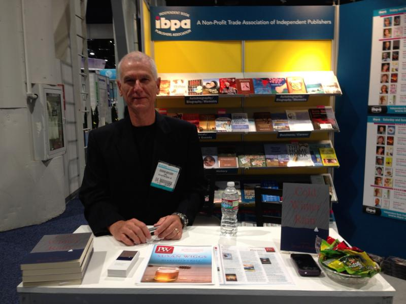 Signing books, American Library Association convention, Las Vegas, June 2014.